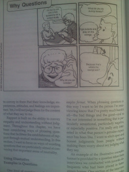 Page with cartoon strip