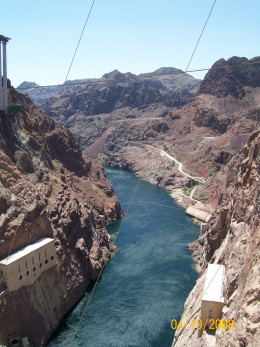 Looking out to where the Hoover Dam Bypass will be when completed.
