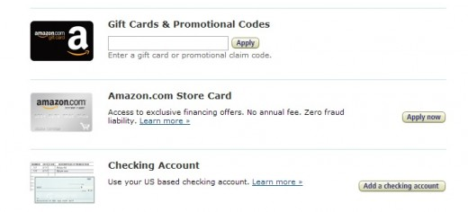 Most websites accept gift cards and/or promo codes as a form of payment.