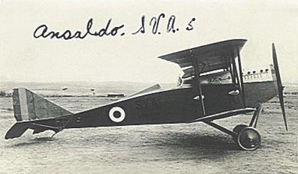 An Ansaldo SVA reconnaissance aircraft
