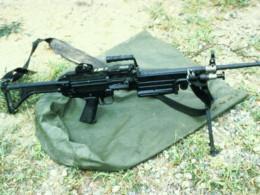 Great big 50-cal rifle (before the barrel got bent)