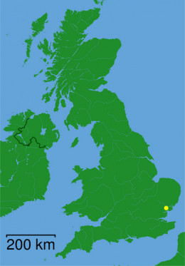 Map location of Colchester, Great Britain
