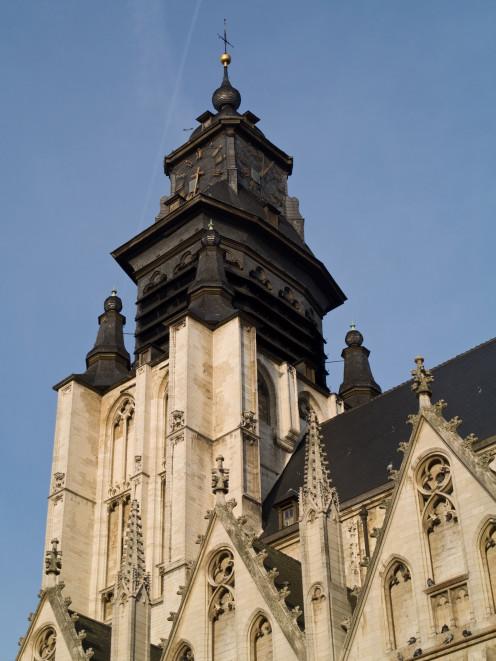 Belfry and tower, 'Eglise-Notre-Dame-de-la-Chapelle' / 'Onze-Lieve-Vrouw-ter-Kapellekerk', Brussels