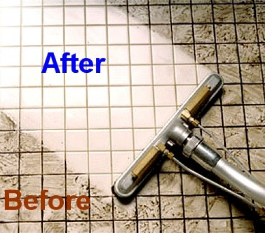 Cleaning grout between tiles floors bathroom shower kitchen for How to clean bathroom grout mold