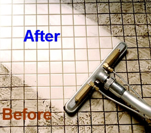 cleaning grout between tiles floors bathroom shower