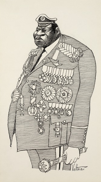 Cartoon mocking Ugandan dictator Idi Amin