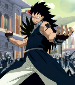 Gajeel Redfox challenging the enemy