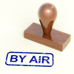 Rubber Stamp With By Air