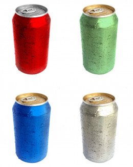 Say no to cans like these and say yes to bottled fresh fruit juices next time you stop at a gas station if you want to up your fruit intake.