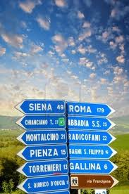 Siena and Pienza both seem to be ahead of us and yet one is above and one is below!!