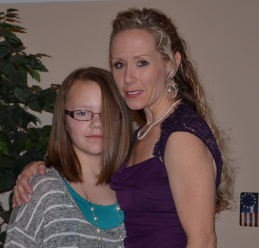 My step-daughter and I