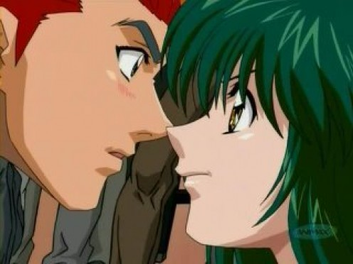 Kanou and Miki sweet moment.