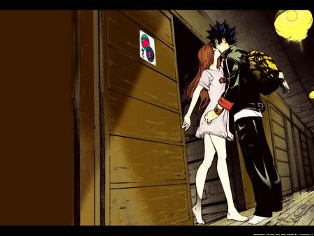 Itsuki and Ringo kissing.