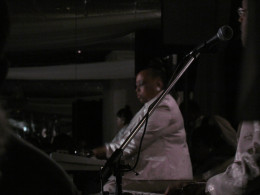 The very talented Adrianne Garner, is the only female in The Stylistics' band. She plays keyboards.