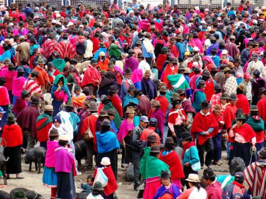 Market day, Guamaote, the Andes, Ecuador