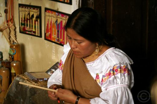panpipe maker, Peguche village, Otavalo