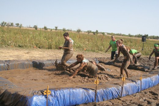 the girls in deep mud stuff