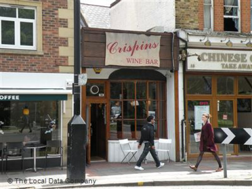 Crispins wine bar in Ealing