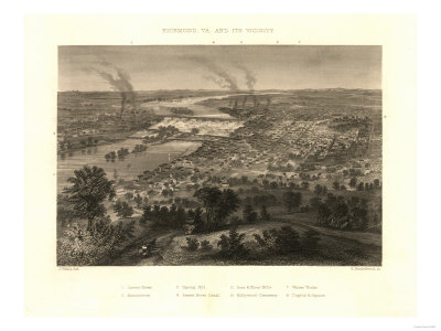 Richmond, Virginia - Panoramic Map