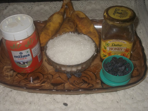 Ingredients for Panchamruth