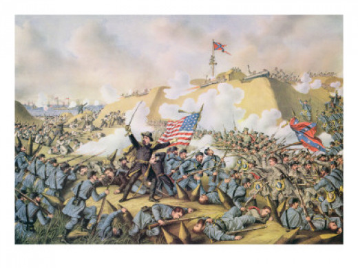 Capture of Fort Fisher, 15th January 1865, Engraved by Kurt and Allison, 1890 by American School