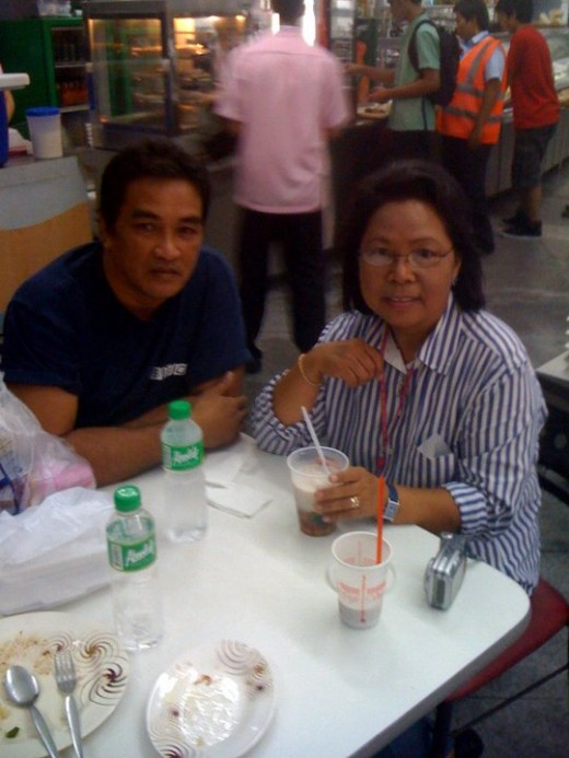 ROGELIO and Me last year 2011 in our first meeting.Lunch in a Manila restaurant.