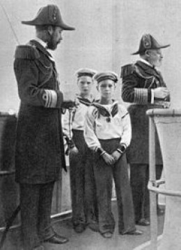 Edward 7th, Future George 5th, David and Bertie.