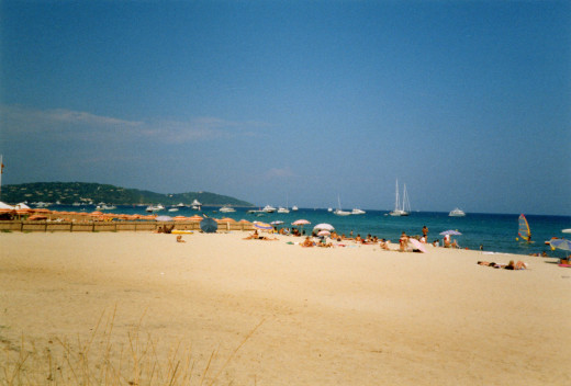 Beach of  Pampelonne