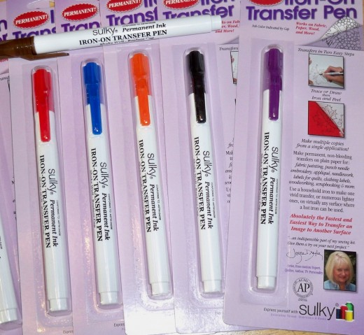 Sulky Iron On Transfer Pens have permanent ink and can be used many times over.