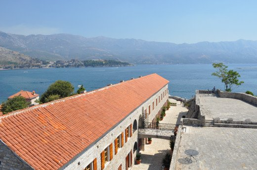 Adriatic Sea from the top of the Budva fortress