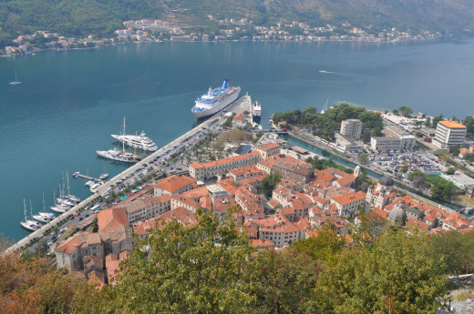 Medieval town and Bay of Kotor