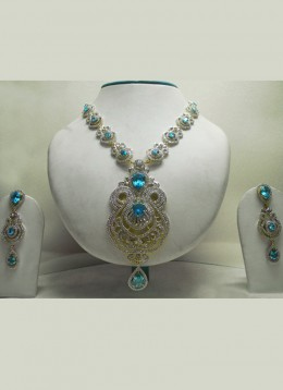 Regal Stone Studded Necklace Set. Photo courtesy of Cbazaar.com.