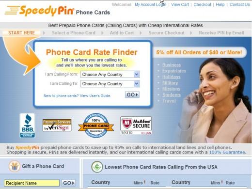 Speedy Pin Website Screen shot