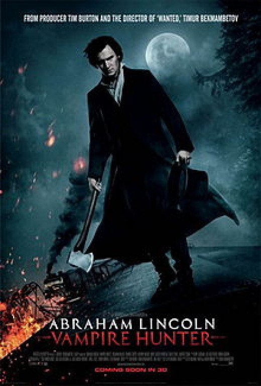 Theatrical poster for Abraham Lincoln: Vampire Hunter
