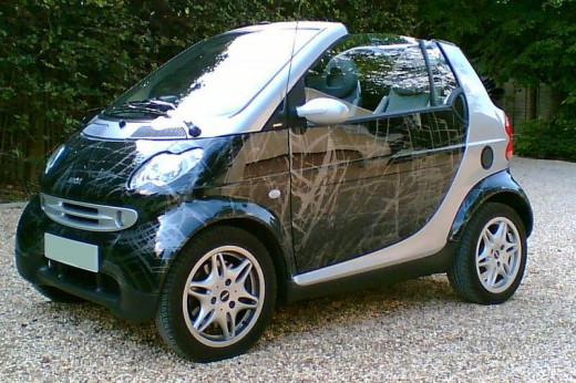 The Smart Fortwo Cabrio, old edition.