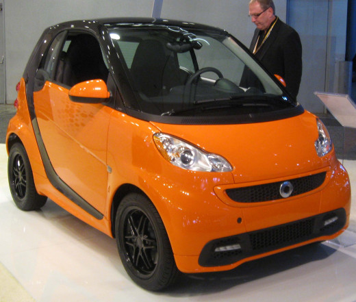 The New version of Smart Fortwo with the symbol in the grid and LEDs.