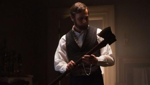 Screen shot of Benjamin Walker as Abraham Lincoln in Abraham Lincoln: Vampire Hunter
