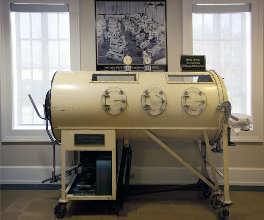 This is called an iron lung. Supposedly polio sufferers used them to breathe. It kind of looks like a fun place to hang out, huh?