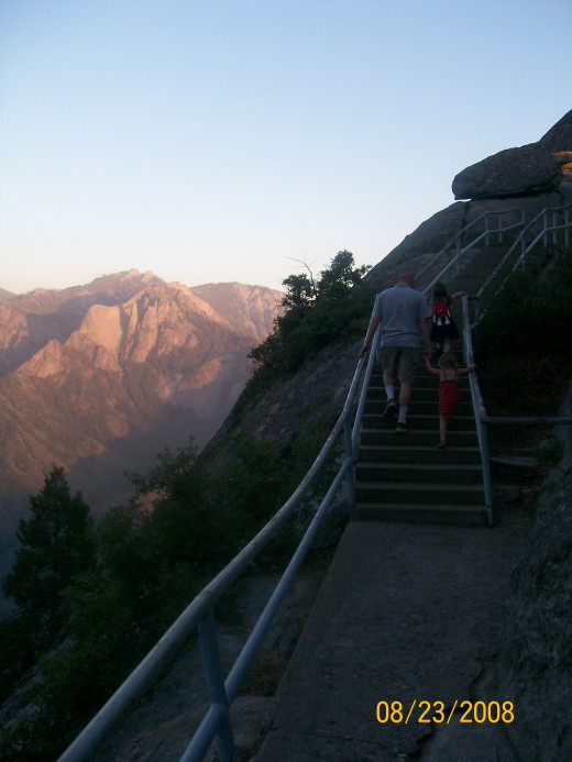 Walking up the path to Moro Rock.