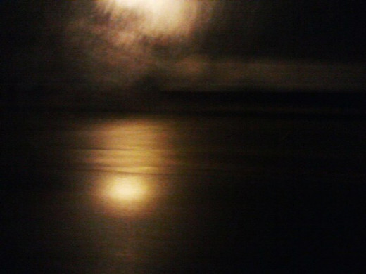 nightfall on the river