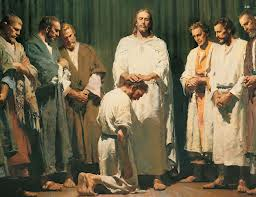 Jesus giving his Apostles authority to act in his name.