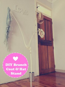 DIY Branch Hat and Coat Stand