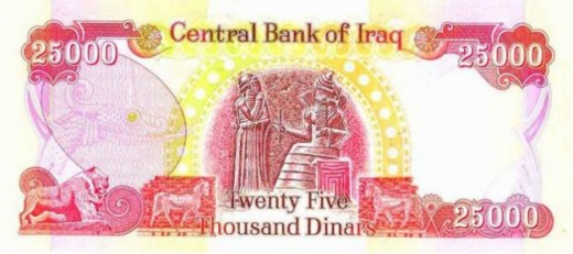 New Iraqi Dinar 25,000 Note