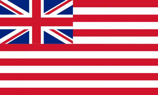 The flag of the British East India Company from 1801 onwards.