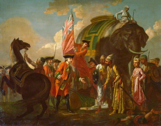 Robert Clive, more commonly known as Clive of India became the first British governor of Bengal after he instated Mir Jafar as the new Nawab.