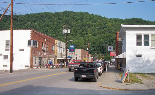 Mountain Town in West Virginia