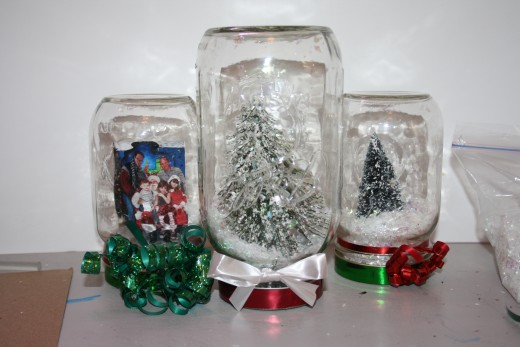Snow Globes I have made.