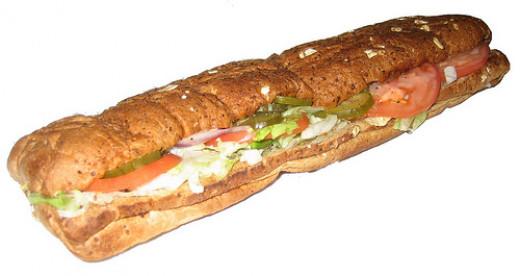 12-inch Buffalo Chicken Sandwich: 600 calories, 7g fat and 1970mg of sodium