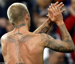 David Beckham Back Tattoo's