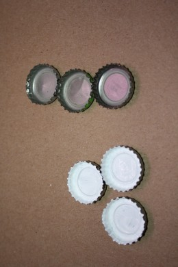 Original bottle caps from beer bottles.
